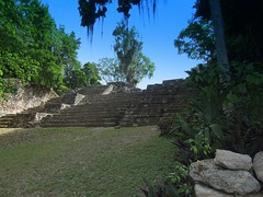 Mayan Stairs At Chacchoben (Butch Osborne) Tags: travel mexico amazing interesting ancient ruins maya awesome scenic culture mayan mayanruins historical traveling antiquity mustsee mayanculture amasing yuccatan westerncarribeancruise2006 mayancity bucketlist