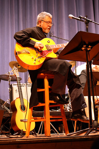 Fareed Haque with the CR Jazz Big Band at Kirkwood 11-22-08