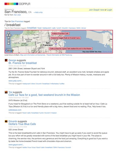 DOPPLR: tips tagged 'breakfast' for San Francisco