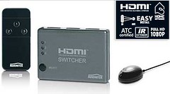 Marmitek 3 Way Remote HDMI Switcher