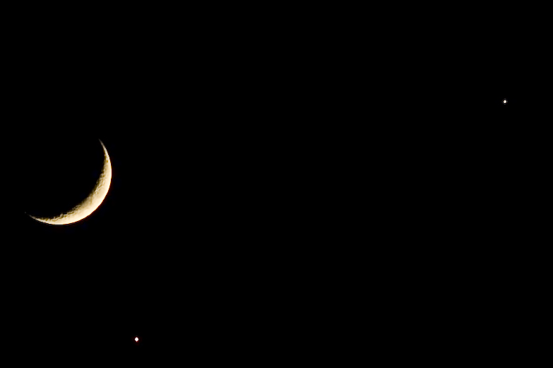 Moon, Venus, Jupiter Conjunction