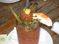 Topped with a fresh crab claw and a scotch egg. (11/30/2008)