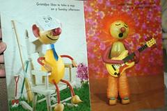 Sunday Afternoon - Inside 2 (ggmossgirl) Tags: vintage book puppet kitsch vegetable storybook
