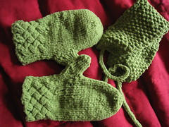 mittens and headband for Khushi