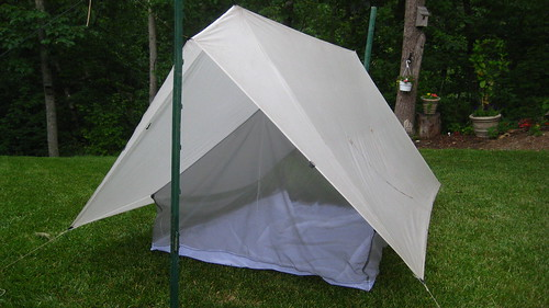 The Tarp with Our New Net Tent