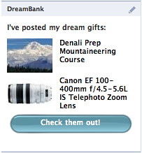 DreamBank's Facebook App