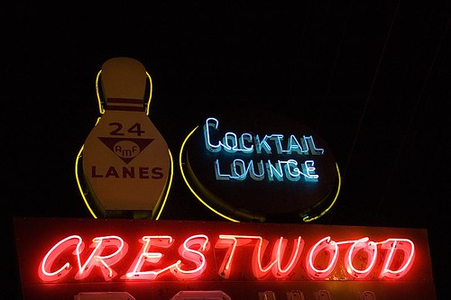 Crestwood Bowl Neon Sign - St. Louis, Missouri