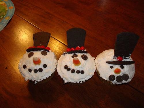 Our Snowmen Cupcakes