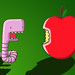 Worm and the apple by christopher wainman