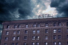 Gathering Storm Above The Hotel Of Horrors