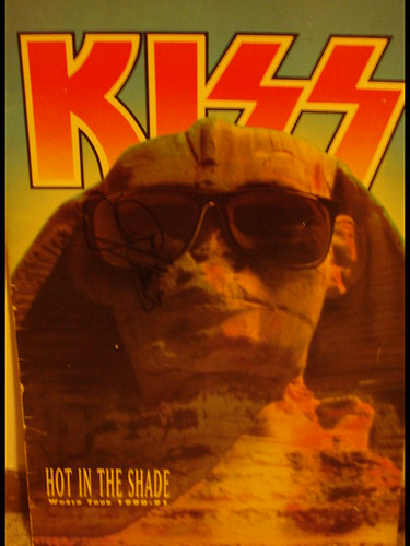 1990 Kiss Hot In The Shade Tourbook (Autographed by Gene Simmons)