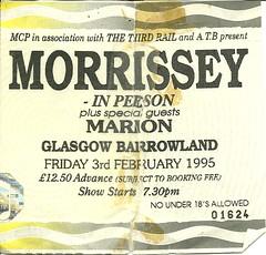 Morrissey 95 (tcbuzz) Tags: tickets james scotland football edinburgh morrissey glasgow ticket oasis concerts loch lomond