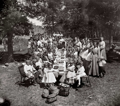 Norwegian community picnic, WI, ca. 1873. Used with permission from Wisconsin Historical Society