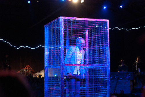 Adam Savage in a Faraday cage