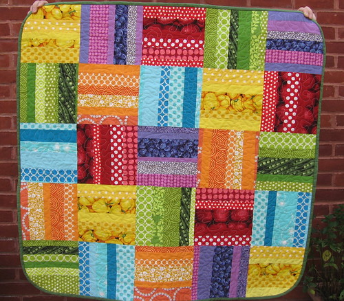 Rainbow Rail Quilt Finished