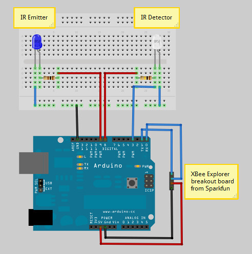 Mailbox Monitor Breadboard Layout