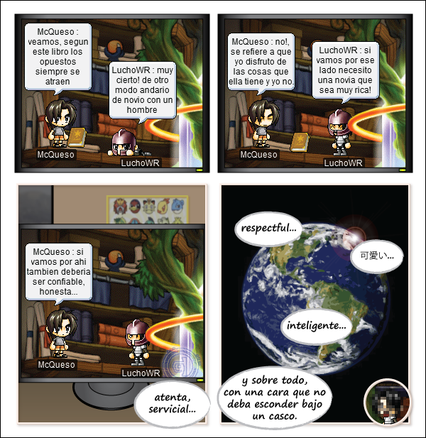 Maple Story - Maple 8 Comic #012: Sol o Palabras