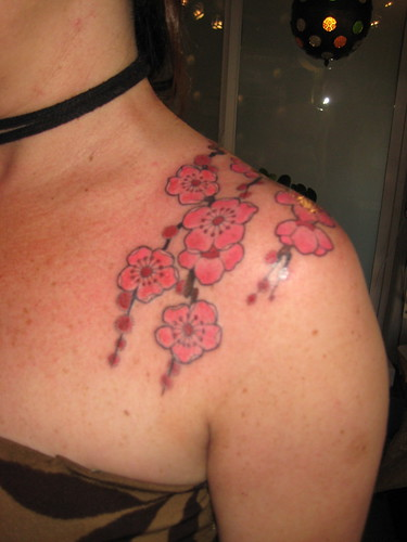 black flower tattoos