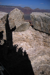 Shadows of Tourists (angelatravels11) Tags: shadows grand canyon tourists outlook overlook mather 20080402 backpackingthegrandcanyon