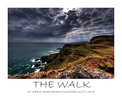 THE WALK (Steve Boote..) Tags: sea cloud seascape coast scotland raw head north cliffs coastline hdr aficionados stabbs berwickshire blueribbonwinner firstquality sigma1020 supershot mywinners samsunggx10 poseidonsdance