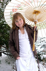 Snow Princess 5 (LeisMariePhotography) Tags: parasol younggirl snowprincess