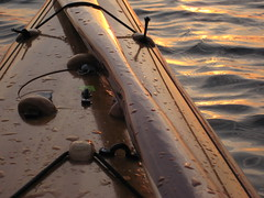 Foredeck 01 (cedarkayak) Tags: sunset lake reflection spring waves michigan paddle paddling stonycreekmetropark pintail foredeck woodboat hatchcover cedarstripkayak greenlandpaddle cedarkayak stormpaddle inuitpaddle
