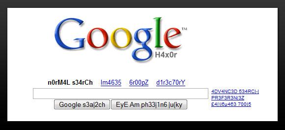 Google Search Leetspeak