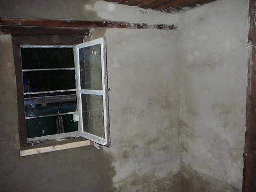verputzte Wände der Werkstatt