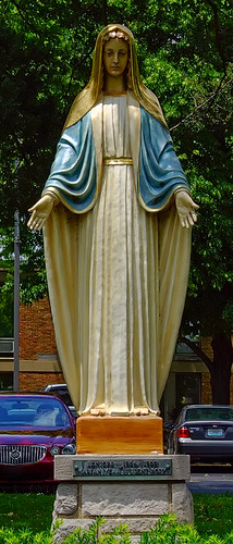 Saint Mary's High School, in Saint Louis, Missouri, USA - statue of Mary