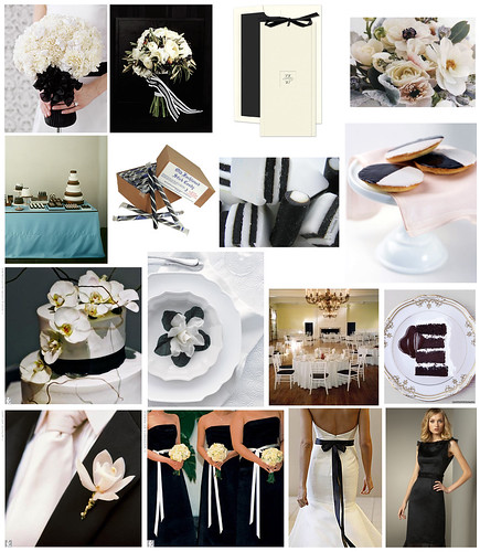 black & white / ecru / cream wedding inspiration