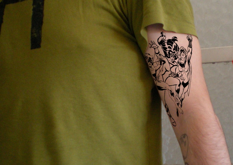 Zombies tattoo from Wired.com's Readers' Best Comic Tattoos gallery.