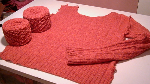 Recycling Sweater Yarn