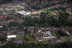 Durham from the Air (quintinsmith_ip) Tags: sky castle plane d50 flying nikon riverwear dc3 dakota durhamcathedral palacegreen gampy stoswalds teeside dunelmhouse durhamprison newelvet airatlantique 18200vr durhamteesvalleyairport classicflight normanbuilding rafdakotadc3 aerialphtotography hallgarthstreet