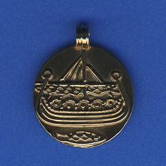 Haithabu Münze als Anhänger aus dem Museumsladen - Wikinger Museum Haithabu WMH 15-06-2008