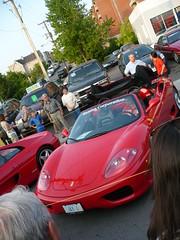 Ottawa Ferrari Fest 2008: Retracting the roof of a Ferrari 360 Modena Spyder. (Steve Brandon) Tags: auto show city people ontario canada car geotagged spider automobile display corsoitalia ottaw