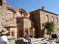 H. with Byzantine church (steven_and_haley_bach) Tags: mom h haley byzantine mystras sixthday mistras greecevacation byzantineruins