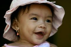 the pink bonnet (Farl) Tags: pink love beauty hat philippines daughter cebu earrings 100mmf28macro cebusugbo cacing francescadyan