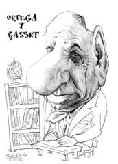 ORTEGA Y GASSET, José (Morales de los Ríos) Tags: writers caricaturas philosophers caricatures escritores filósofos