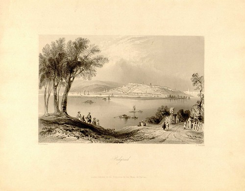 Beograd by Njilliam Henry Bartlett - umetnik. Edvard Brandart, graver (undated)