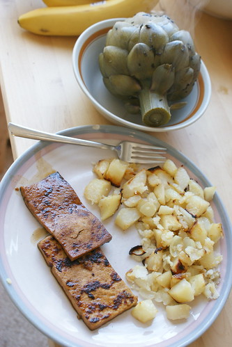 artichoke potatoes and tofu