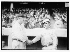 [Managers John McGraw, New York NL, and Jake Stahl, Boston AL, at World Series (baseball)]  (LOC) (The Library of Congress) Tags: al baseball redsox libraryofcongress nl mcgraw bostonredsox worldseries stahl americanleague pologrounds nationalleague johnmcgraw newyorkgiants xmlns:dc=httppurlorgdcelements11 jakestahl handshale 1912worldseries dc:identifier=httphdllocgovlocpnpggbain11503 newyorkbaseballgiants
