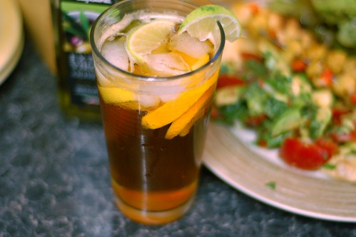Ice cold Pimms and lemonade
