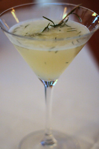 Pear-rosemary martini