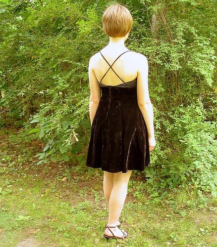 Upcycled Black and Gold Swing Velvet