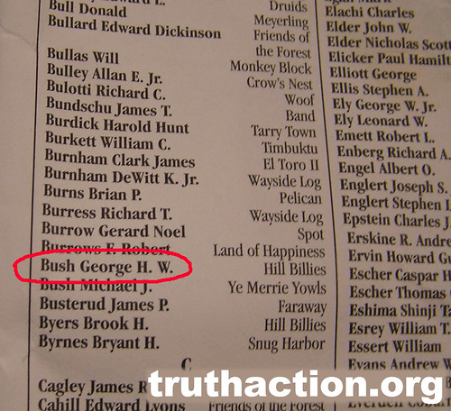 Bohemian Grove 2008 list