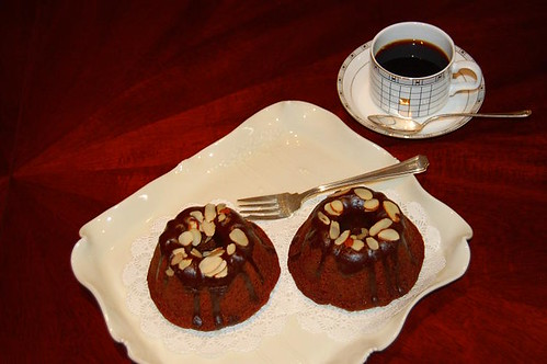 German Chocolate hazelnut creme cakes