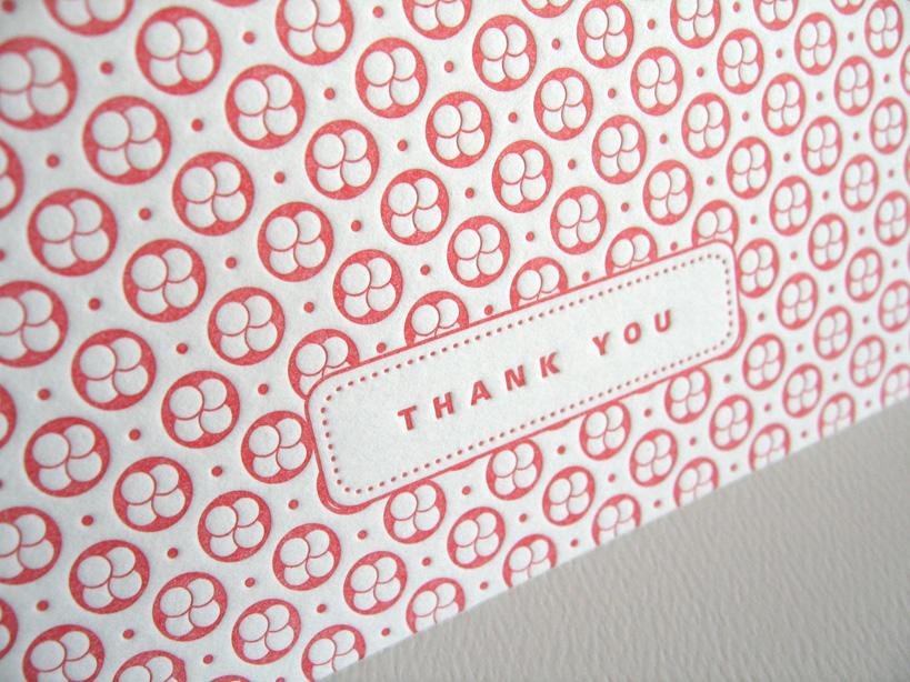 Sakura pink letterpress card
