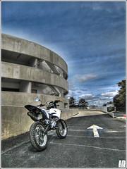 HDR Park in / Yamaha DT by addesign (Antonin Douard) Tags: 2 cross strokes supermoto ktm yamaha dt enduro supermotard husqvarna addesign