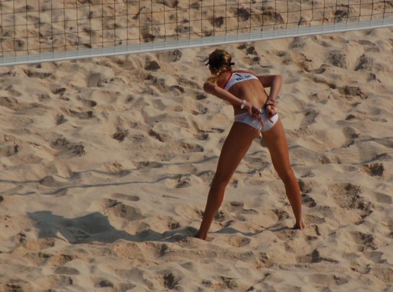Beach Volley -Womans Semifinal - USA vs. Brazil