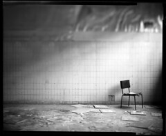 The Waiting Room, Charleroi 2008 (Kal Khogali Photography) Tags: building abandoned chair solitude wrecked toyo adox chs50